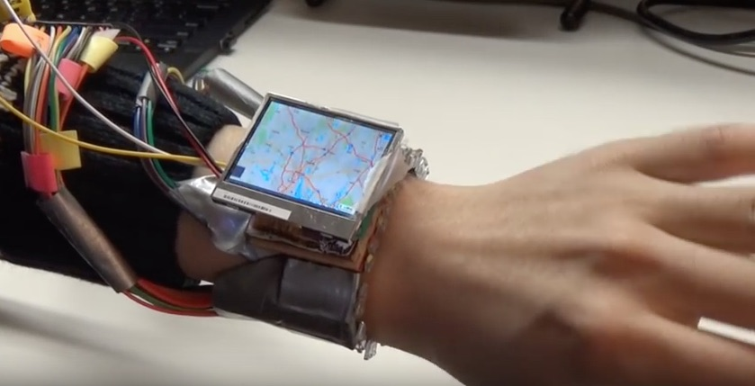 Controlling a smartwatch with wrist gestures