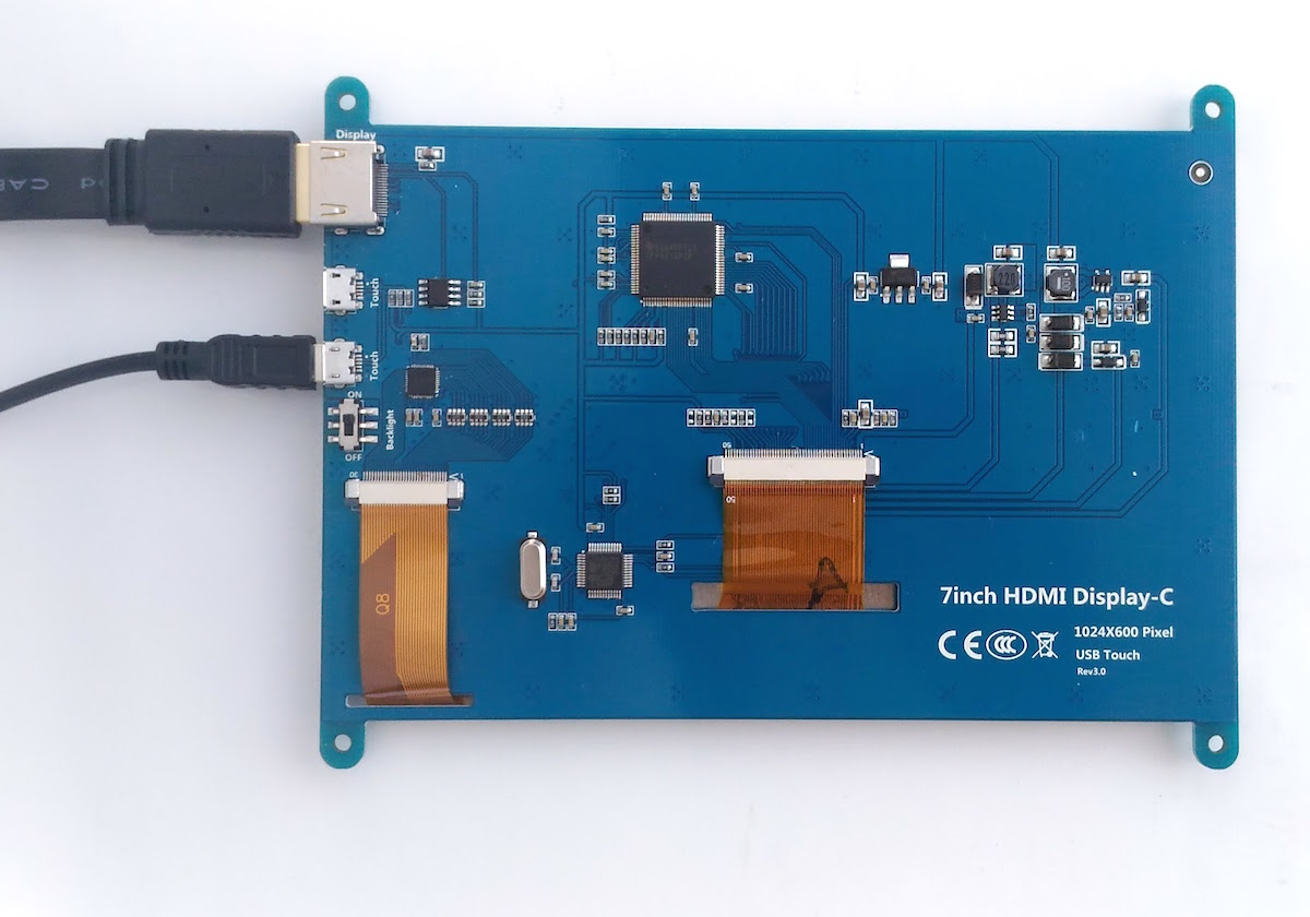 Back side of the LCD display