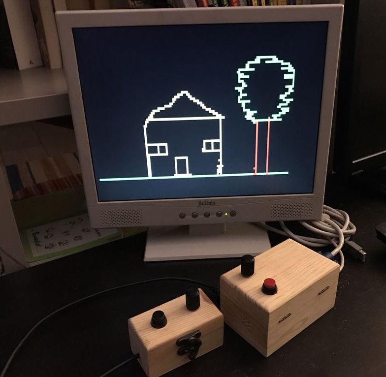 Etch a sketch on vga monitor using arduino embedded lab