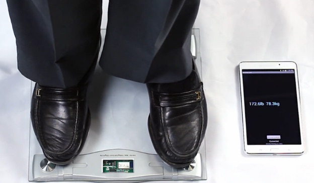 Bluetooth connected weight scale
