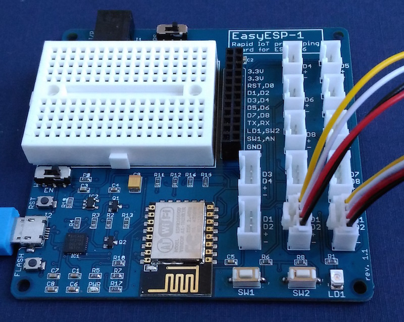 BME280 and OLED connect to I2C Grove ports