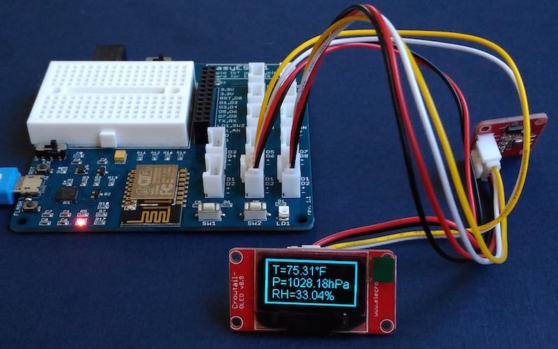 Tutorial 6: ESP8266 and BME280 make a local/remote weather