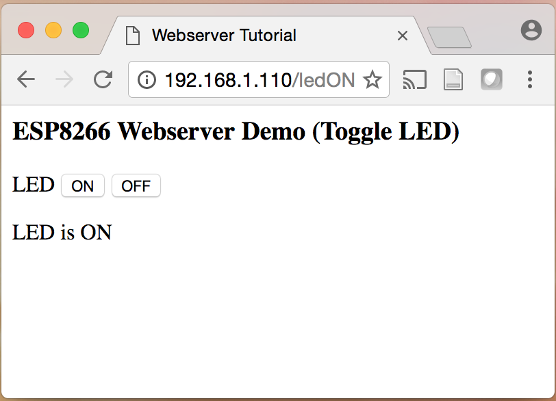 Tutorial setting up an esp web server embedded lab