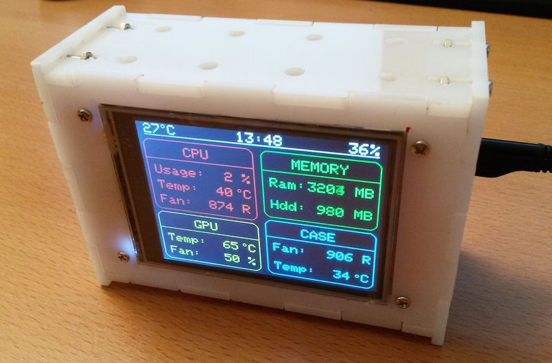 ESP8266 PC stat monitor