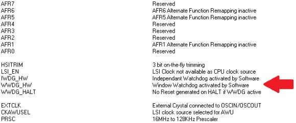 WDG Configuration Bits