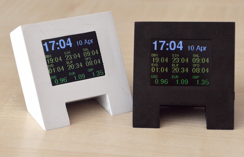 ESP8266 displays foreign exchange rates on your desk