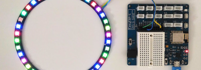 EasyESP-1 driving NeoPixel ring