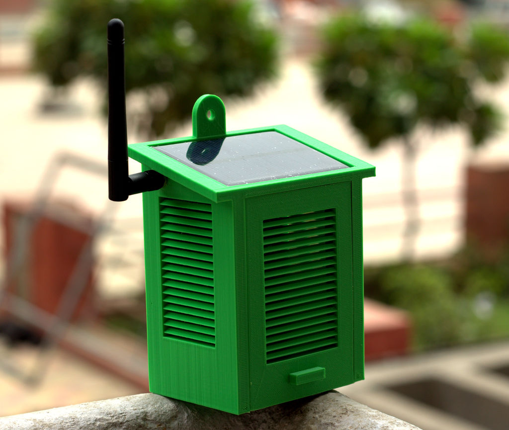 Solar-powered weather station