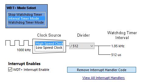 Grace WDT+ Interval Mode Settings