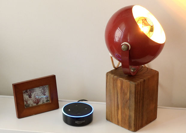 Voice-controlled smart lamp