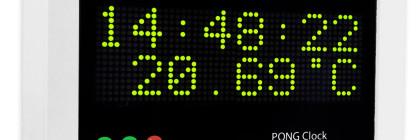 Arduino pong clock