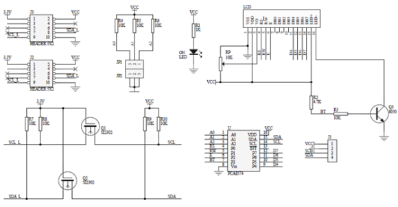 I2C LCD Driver Schematic